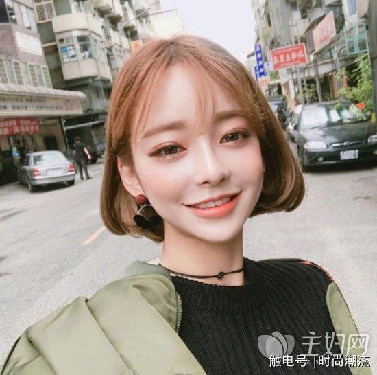 空气刘海短发时尚减龄 短发内扣发型修颜瘦脸