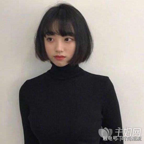 齐刘海短发