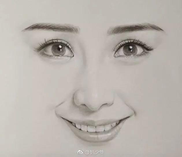 六大女明星的手绘头像杨幂最好认 最后一张好多人没认出