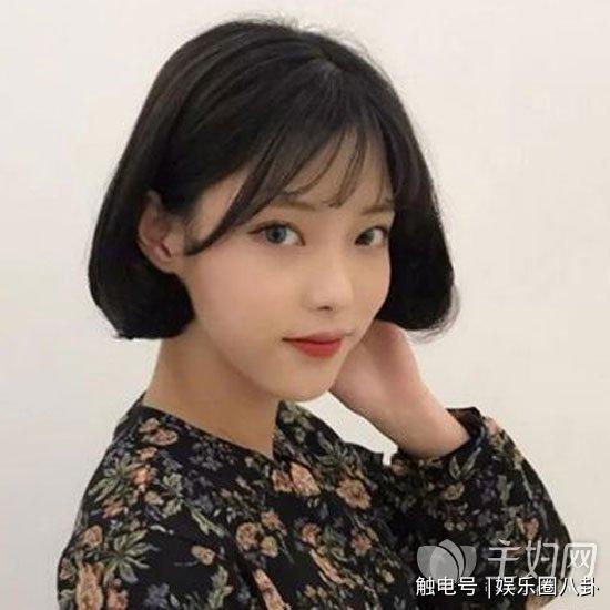 空气刘海短发发型图片