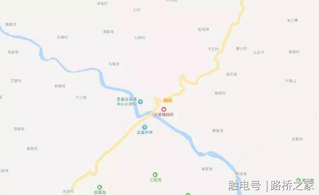 忠县地图各乡镇